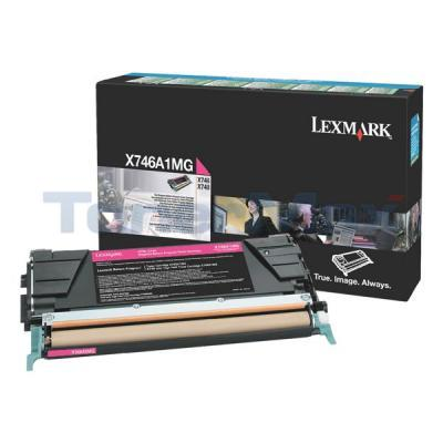 LEXMARK X746 TONER CARTRIDGE MAGENTA RP